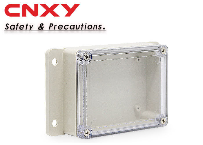 Customized IP65 Waterproof Plastic Box , Transparent Pcb Enclosure Box